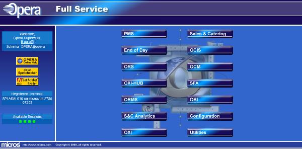 hướng dẫn chi tiết cách sử dụng phần mềm quản lý khách sạn Opera