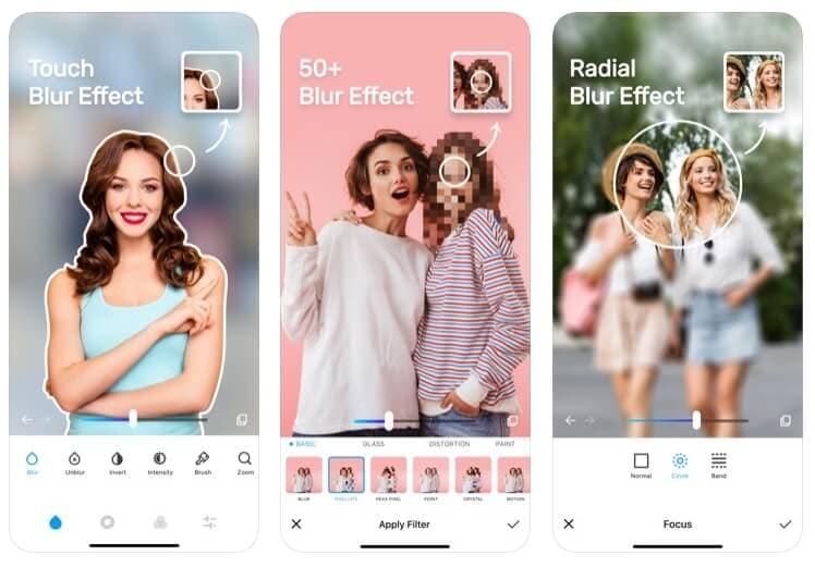 blur photo app for ios - Top phần mềm che mặt ảnh hay video trên iOS và Android