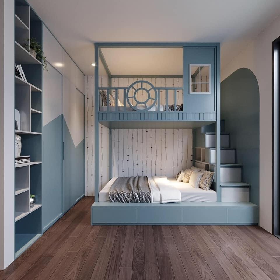 Mẫu giường tầng cho bé trai từ 10 tuổi