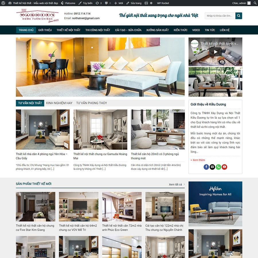 Mẫu nội thất 05 - Thiết kế web sáng tạo